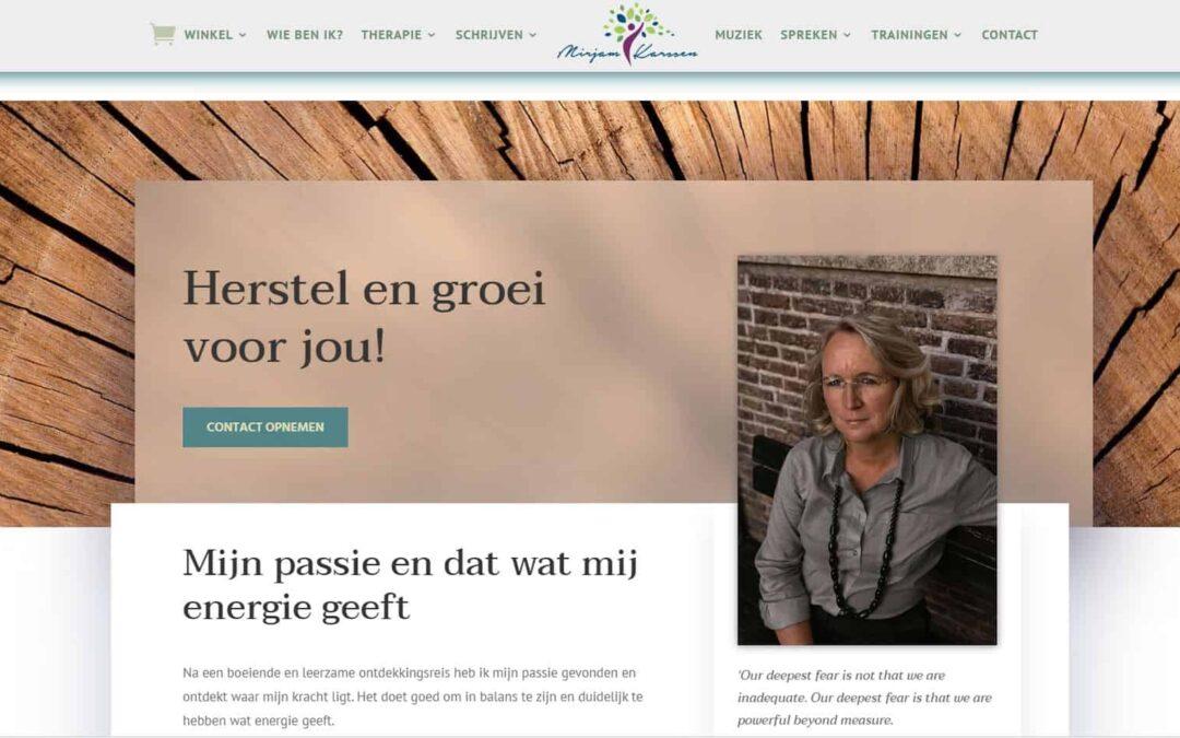 Website Gaan voor Herstel – Mirjam Karssen